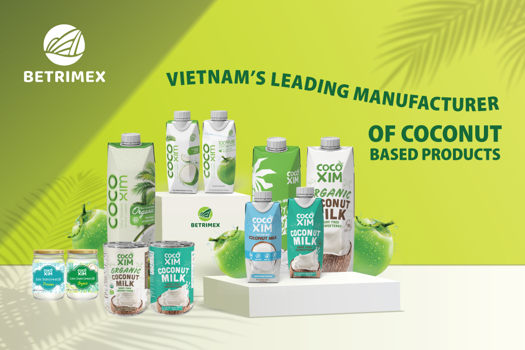 Fresh and pure coconut water from Ben Tre