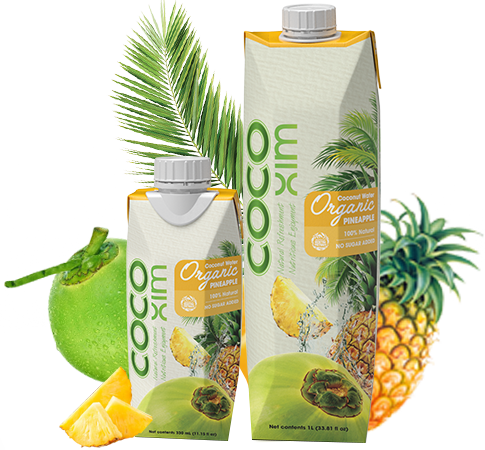 Organic coconut Water With Pineapple Juice